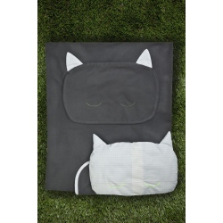 Kit couverture et oreiller – Gris