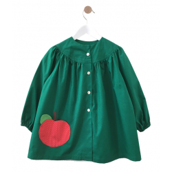 Tablier ecole fille Petite Pomme - verte