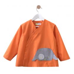 Tablier ecole mixte Petit Chien - Orange