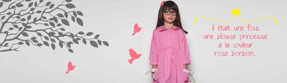La nouvelle blouse d'école pour les petites princessesen édition limitée
