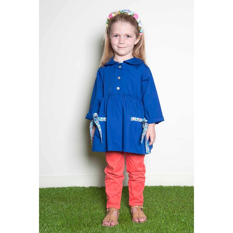 blouse cole fille zo petite princesse bleu lectrique. Black Bedroom Furniture Sets. Home Design Ideas