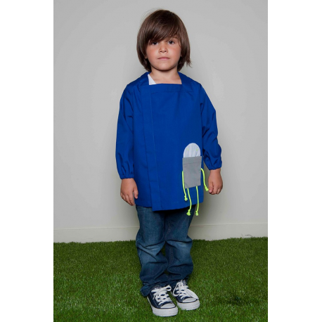 Tablier garçon Petit Robot - Bleu électrique