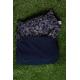 Kit couverture et oreiller sieste vue repliée – Bleu marine