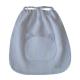 Serviette cantine élastiquée – Blanc carreau écolier