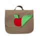 Cartable scolaire pour fille Petite pomme - Taupe