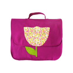 Cartable Tulipe - Rose Pivoine
