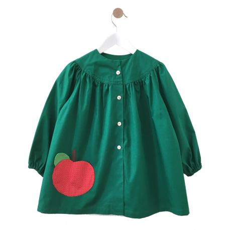 Blouse école fille Petite Pomme - verte