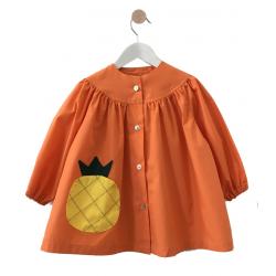 Tablier ecole fille Ananas - Mandarine