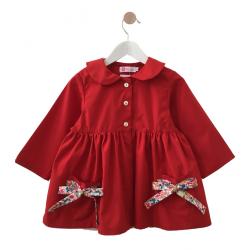 Tablier ecole fille Petite Princesse - Rouge