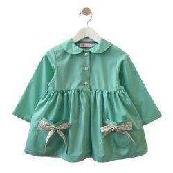 Tablier ecole fille Petite Princesse - Vert d'eau