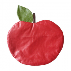 Trousse scolaire Pomme - Rouge enduit