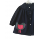 Blouse fille Little Birdy - Bleu Marine