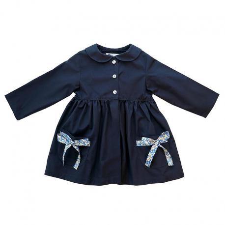Tablier ecole Petite section fille Petite Princesse - Bleu Marine