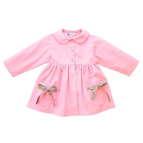 Petite section blouse école Zoé Petite Princesse - Rose dragée