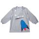 Tablier école garçon Petite fusée - Tom gris - detail poche