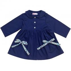 Tablier ecole fille Petite Princesse - Bleu électrique