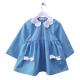 Tablier ecole fille Daisy - Bleu ciel