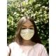 Masque Barrière Junior (6 à 12 ans) - fleurs / blanc