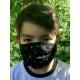 Masque Barrière Junior - etoiles / noir