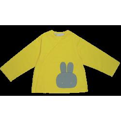 Tablier ecole mixte Petit lapin- Jaune