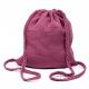 Sac d'activités en coton double gaze à bretelles tressées - Rose Framboise