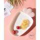 Assiette enfant Radis - blanc