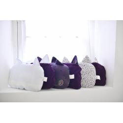 Kit couverture et oreiller – Prune