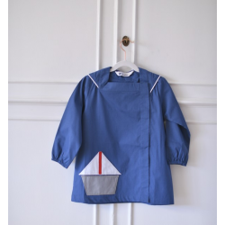Tablier ecole mixte Petit marin - Bleu Jean