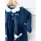 broderie sur blouse et tablier d'école