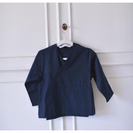 Tablier école mixte Mae à personnaliser - Bleu marine